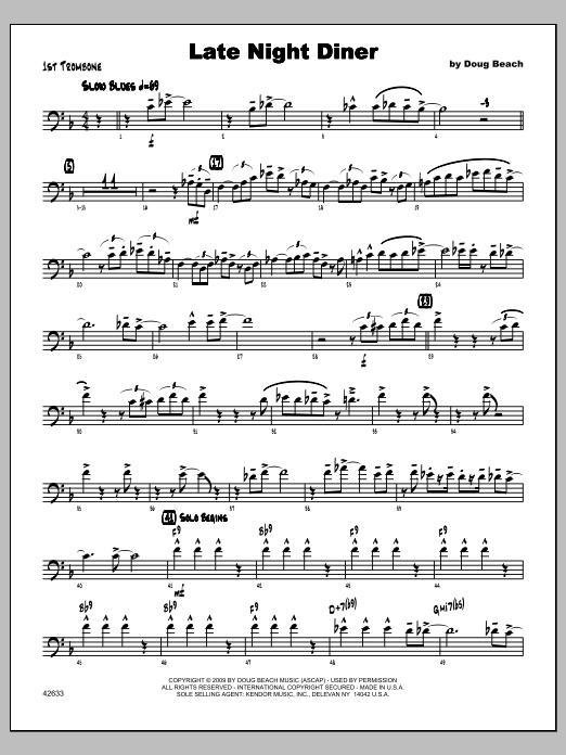 Late Night Diner - Trombone 1 Sheet Music