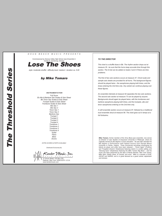 Lose The Shoes - Full Score Sheet Music