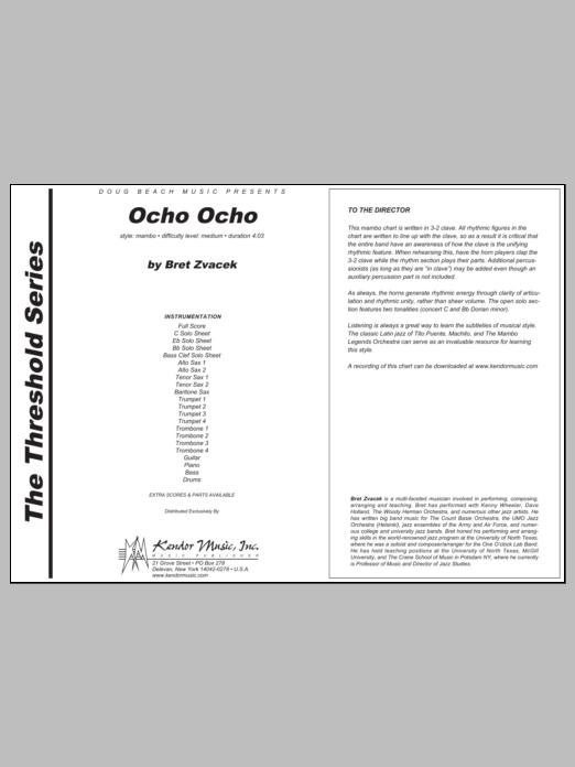Ocho Ocho - Full Score Sheet Music