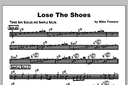 Lose The Shoes - Featured Part Sheet Music
