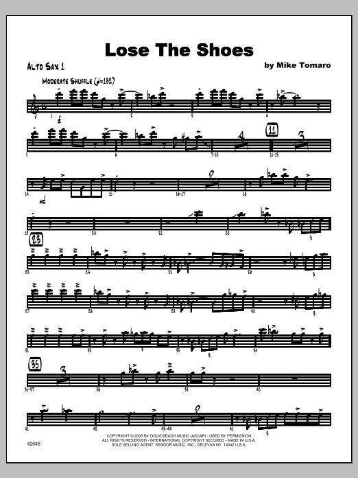 Lose The Shoes - Alto Sax 1 Digitale Noten