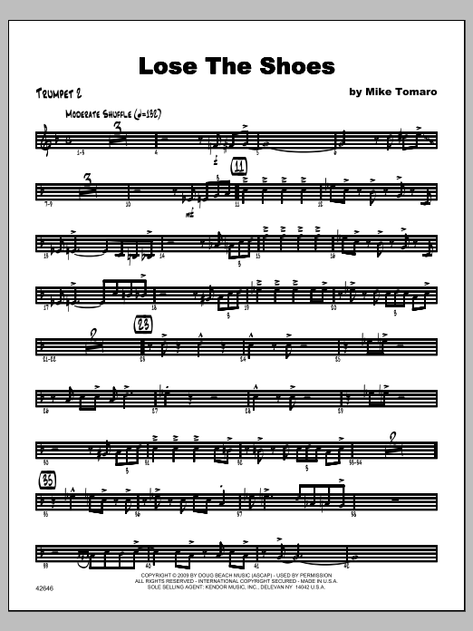 Lose The Shoes - Trumpet 2 Sheet Music