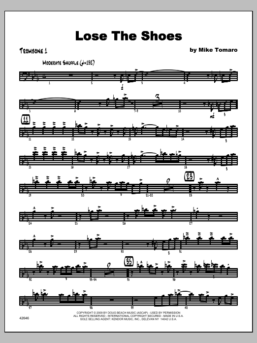 Lose The Shoes - Trombone 1 Partition Digitale