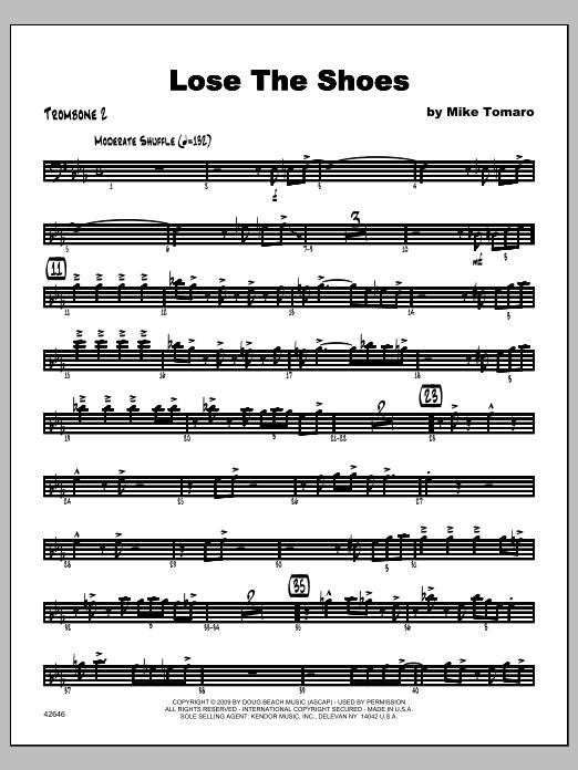 Lose The Shoes - Trombone 2 Sheet Music