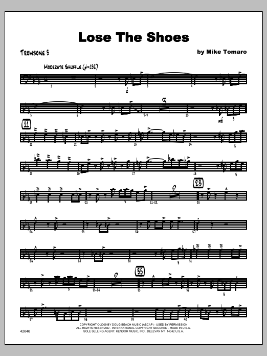 Lose The Shoes - Trombone 3 Sheet Music