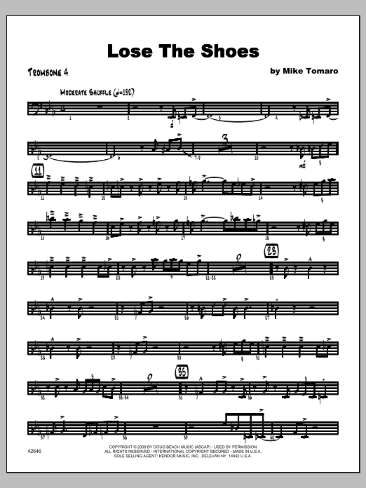 Lose The Shoes - Trombone 4 Sheet Music