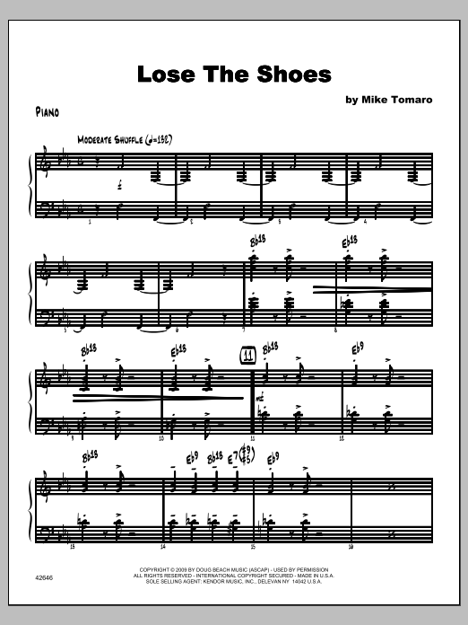 Lose The Shoes - Piano Sheet Music