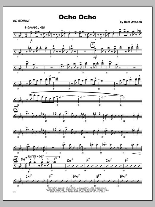 Ocho Ocho - Trombone 2 Sheet Music