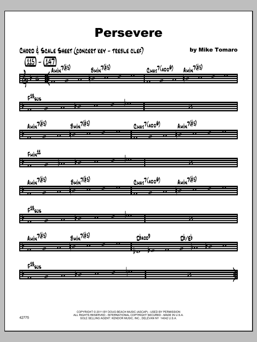 Persevere - Featured Part Sheet Music