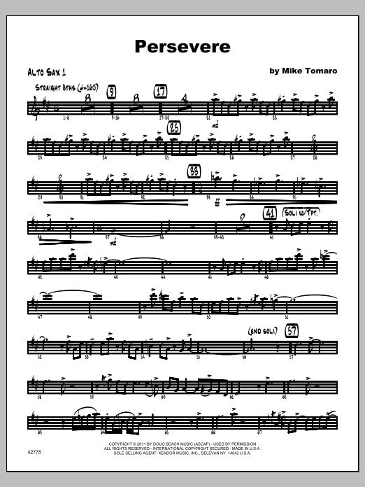 Persevere - Alto Sax 1 Sheet Music