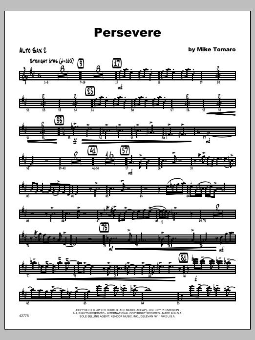 Persevere - Alto Sax 2 Sheet Music