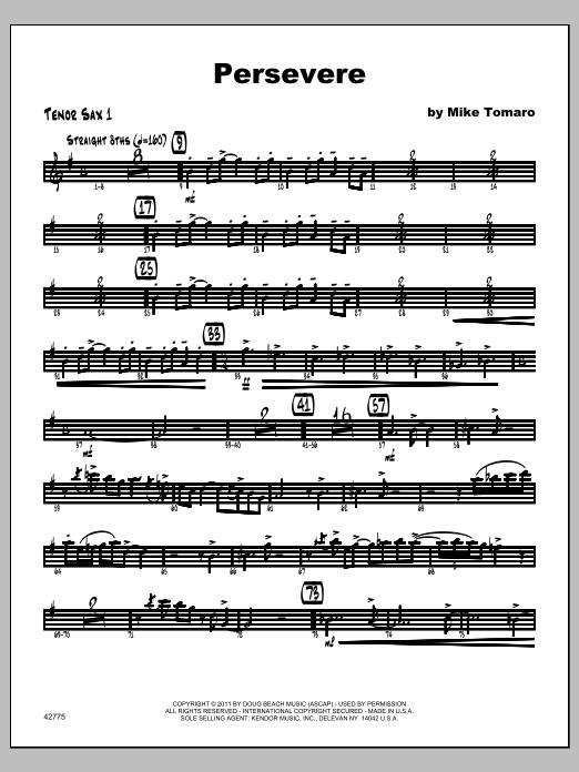 Persevere - Tenor Sax 1 Sheet Music