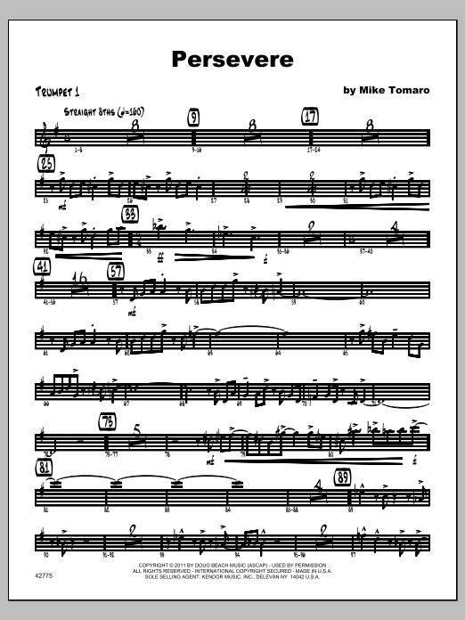 Persevere - Trumpet 1 Sheet Music
