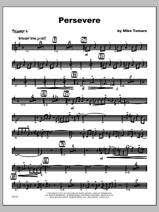 Persevere - Trumpet 4 Sheet Music