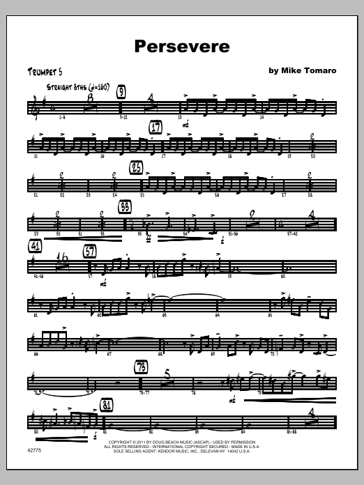 Persevere - Trumpet 5 Sheet Music