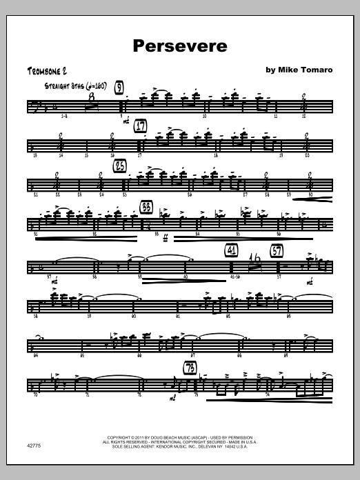 Persevere - Trombone 2 Sheet Music
