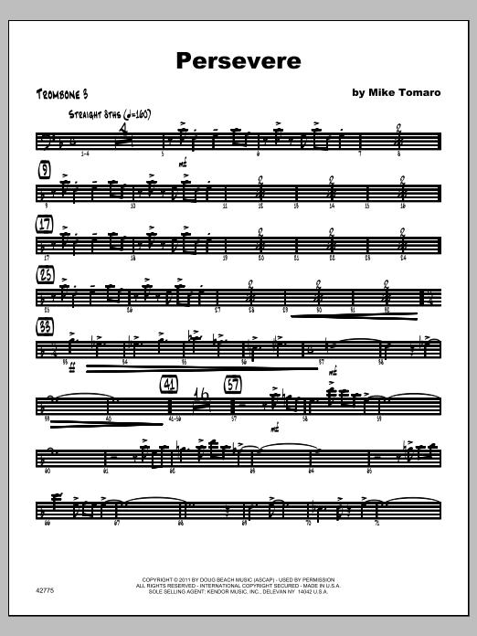 Persevere - Trombone 3 Sheet Music