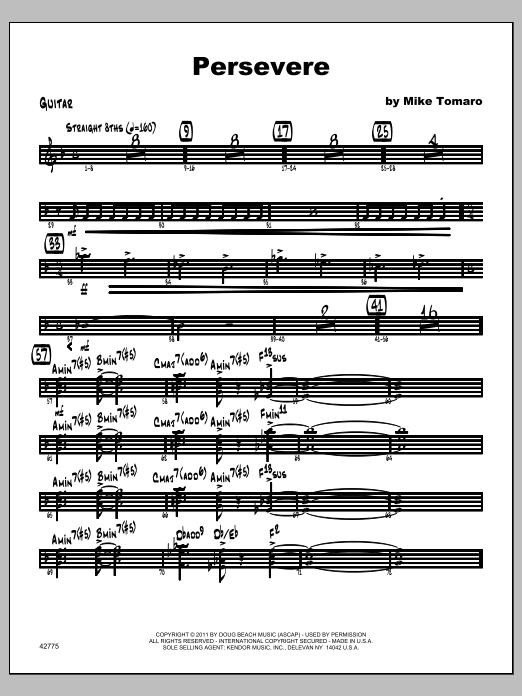 Persevere - Guitar Sheet Music