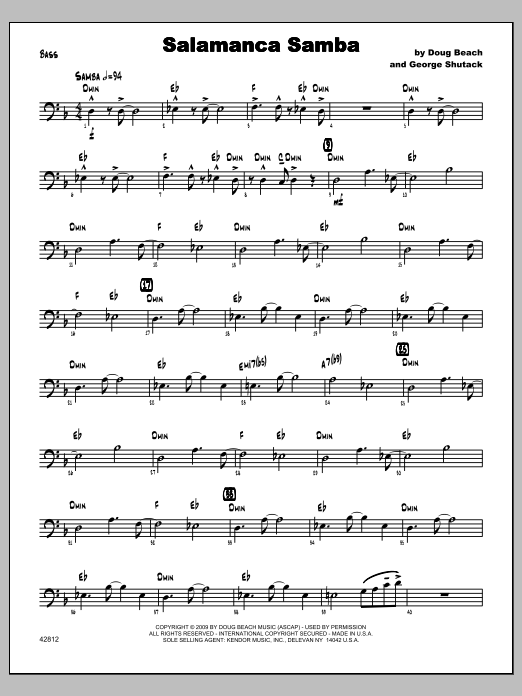 Salamanca Samba - Bass Sheet Music