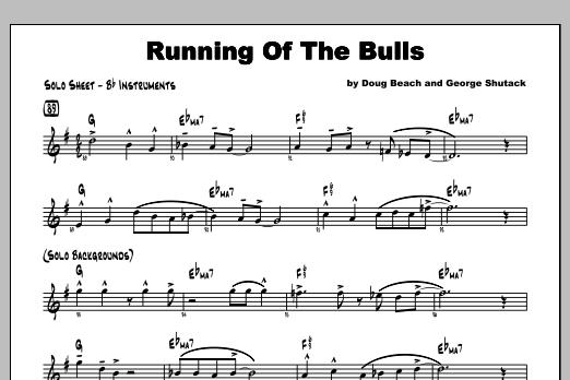 Running Of The Bulls - Featured Part Sheet Music