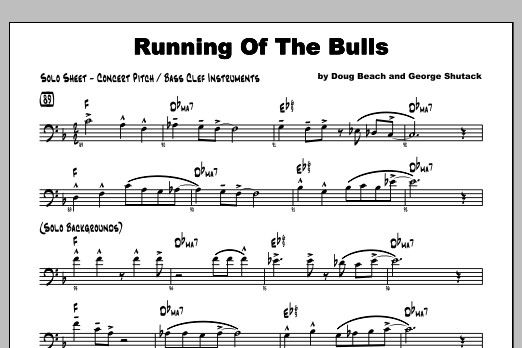 Running Of The Bulls - Featured Part Sheet Music