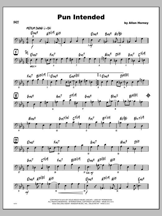 Pun Intended - Bass Sheet Music