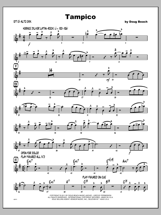 Tampico - Alto Sax 1 Sheet Music