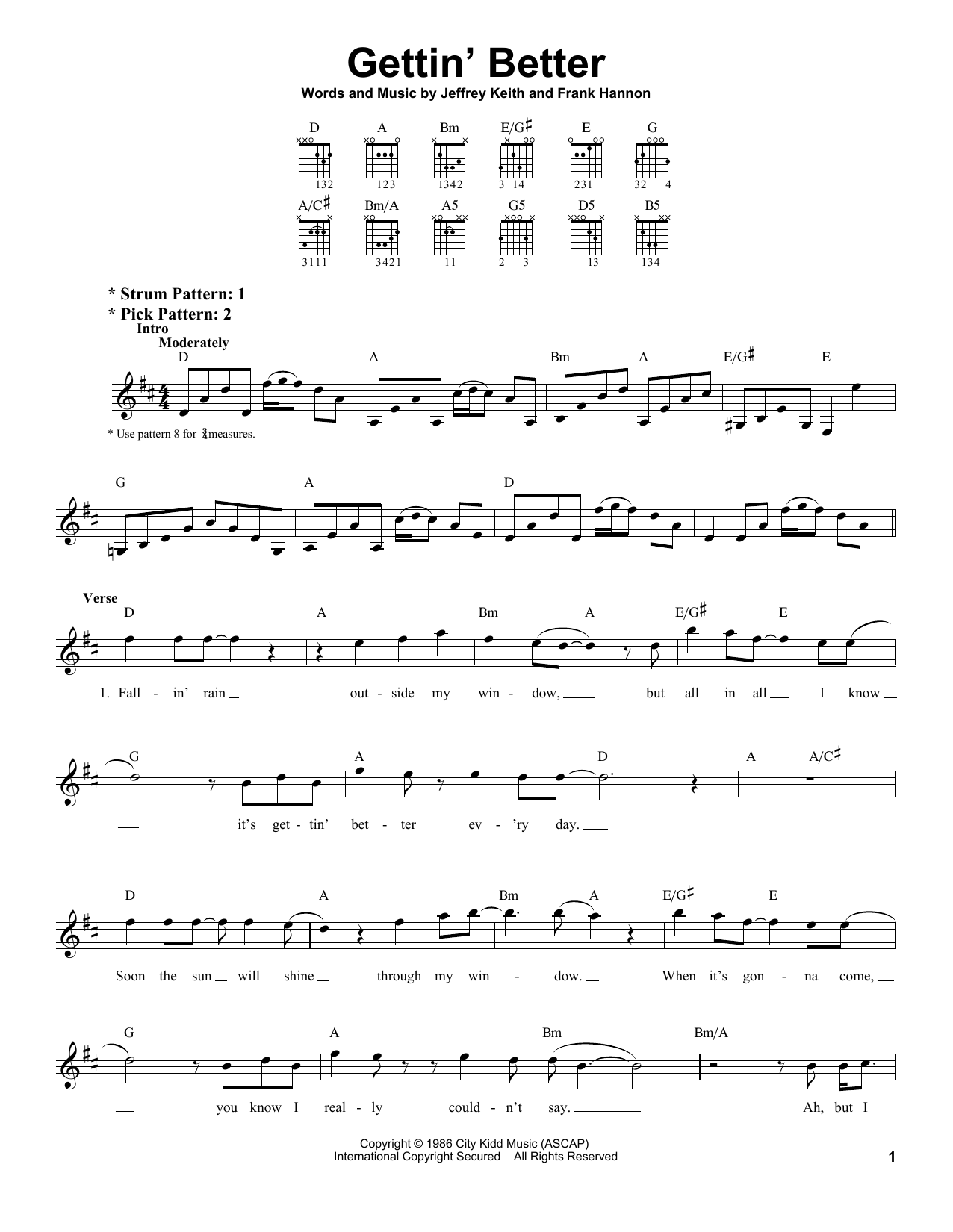 Gettin' Better Sheet Music