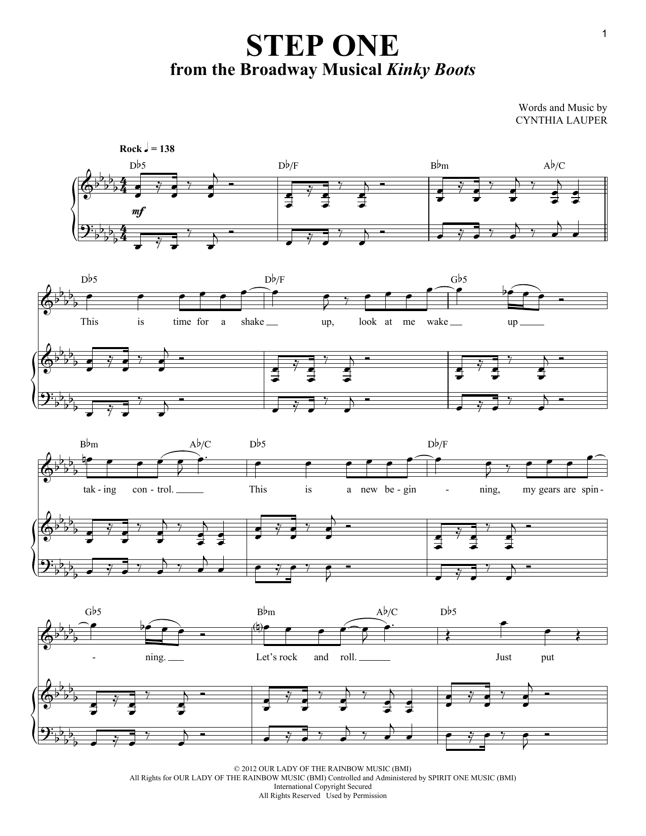 Step One Sheet Music