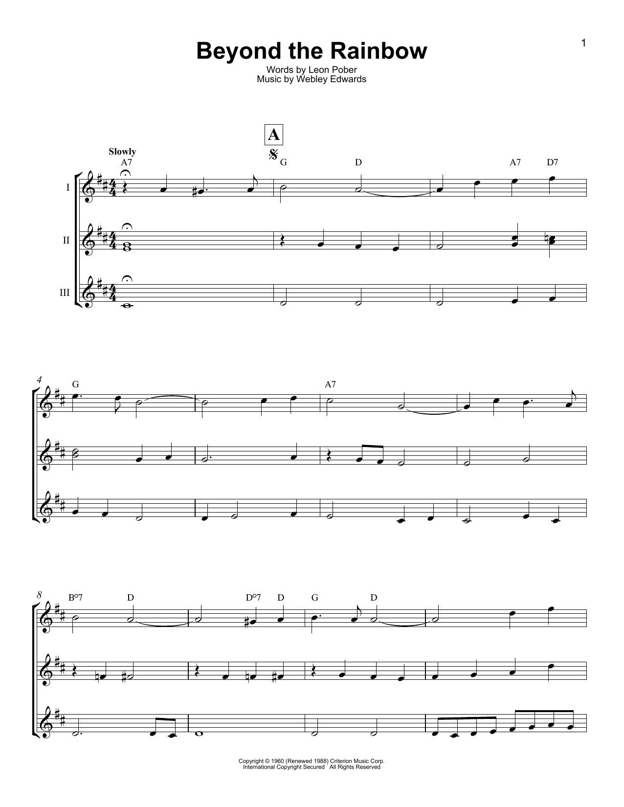 Beyond The Rainbow (Ukulele Ensemble)