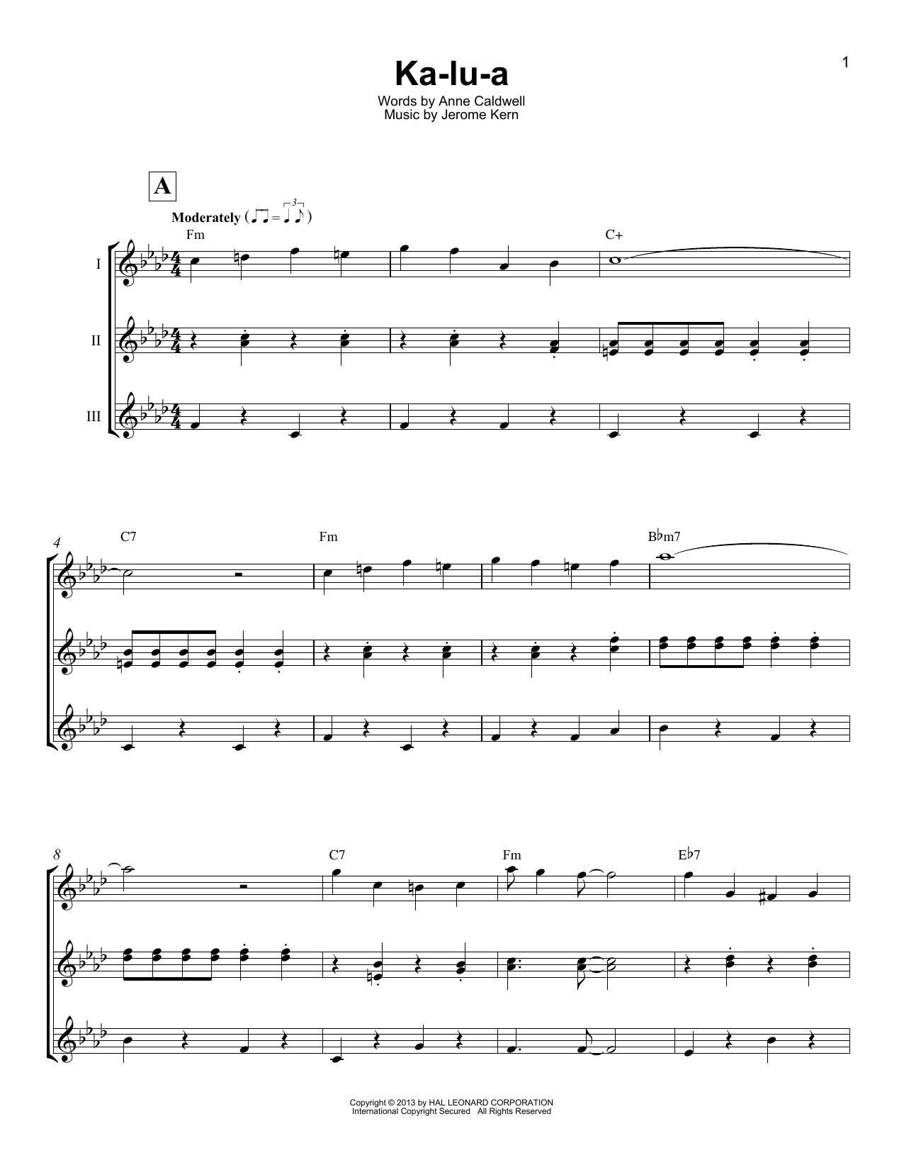 Ka-lu-a (Ukulele Ensemble)