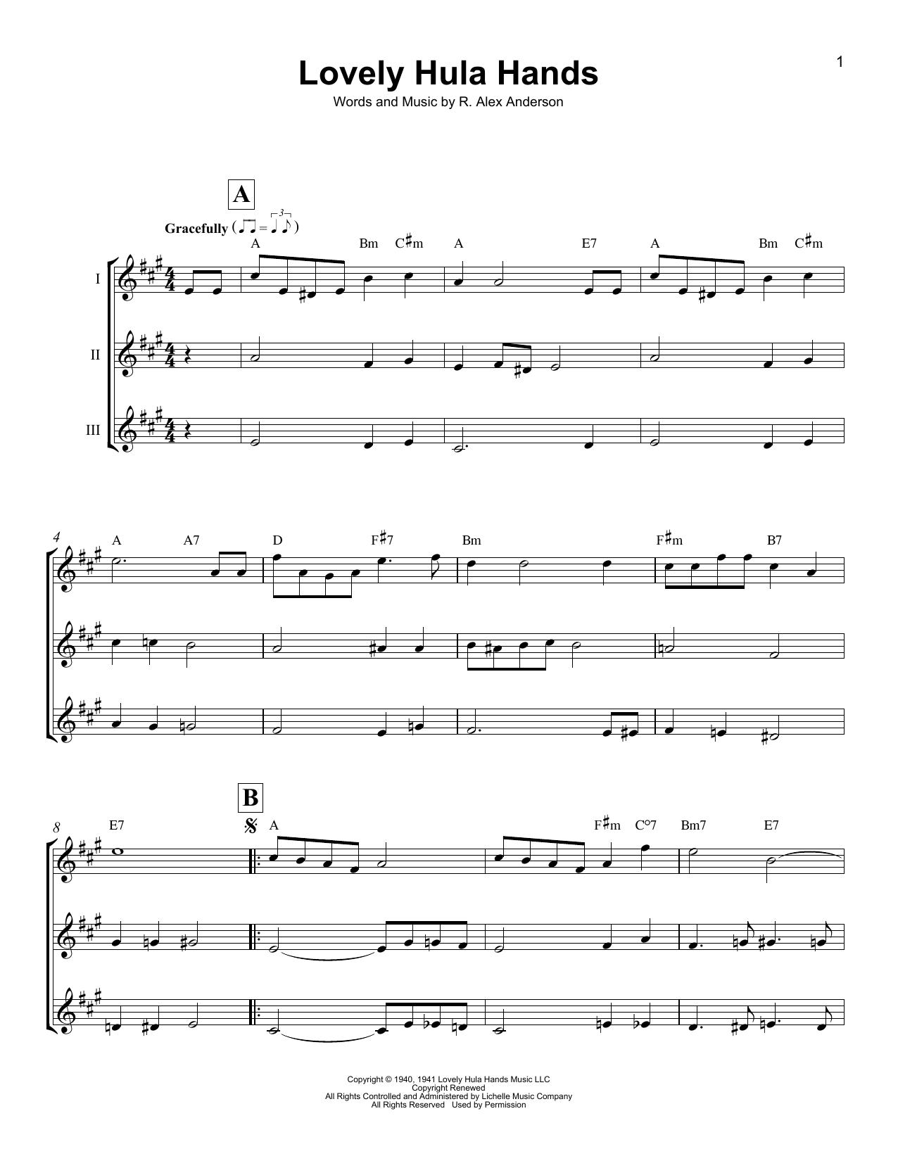 Lovely Hula Hands Sheet Music