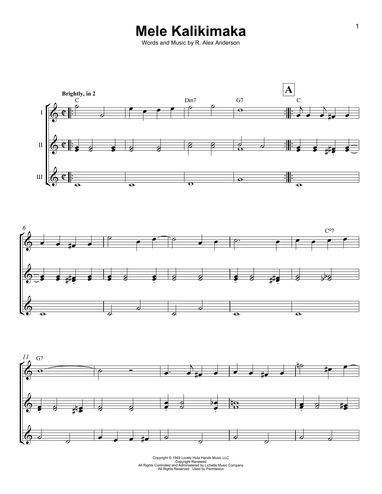 Mele Kalikimaka Sheet Music