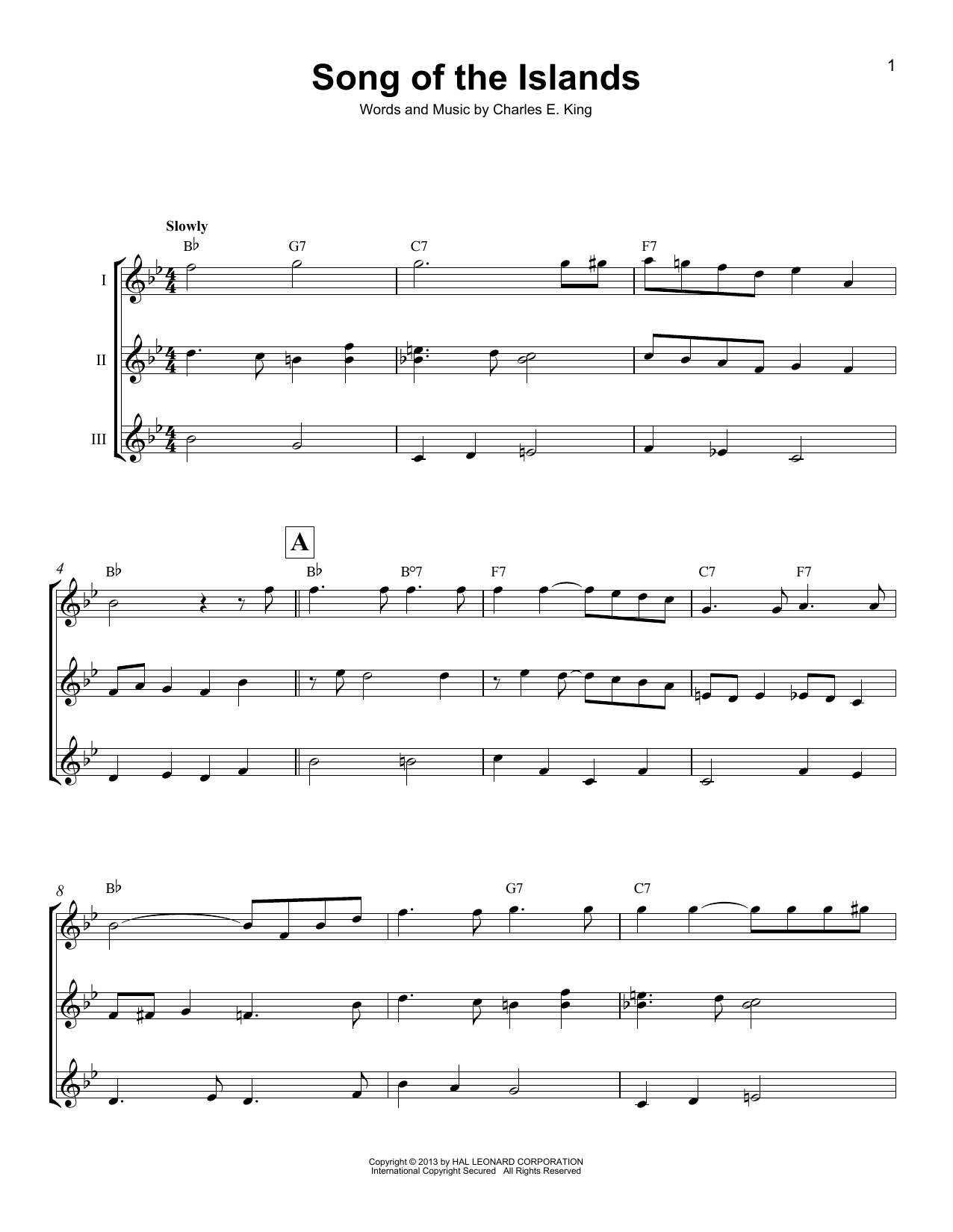 Song Of The Islands (Ukulele Ensemble)