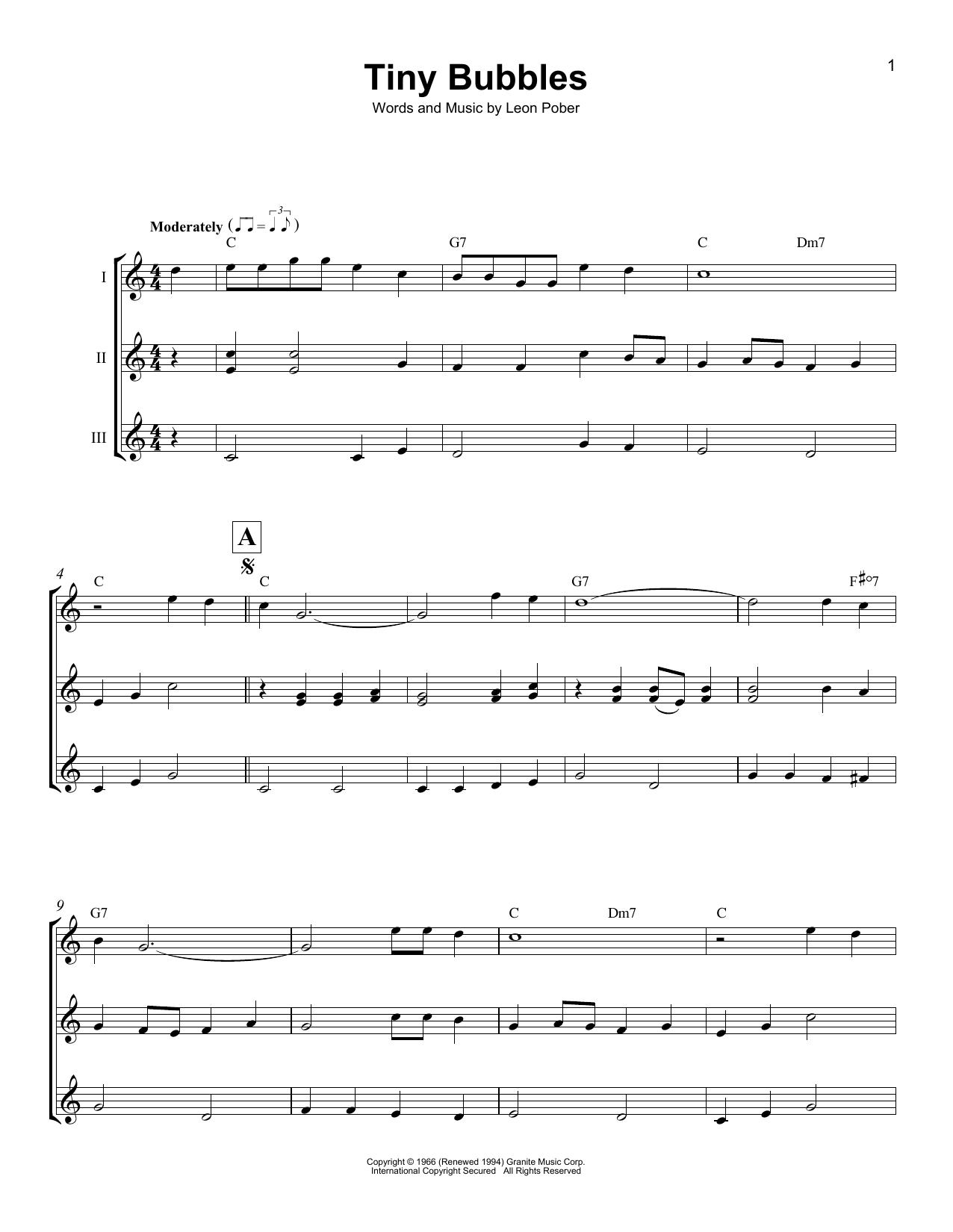 Tiny Bubbles Sheet Music