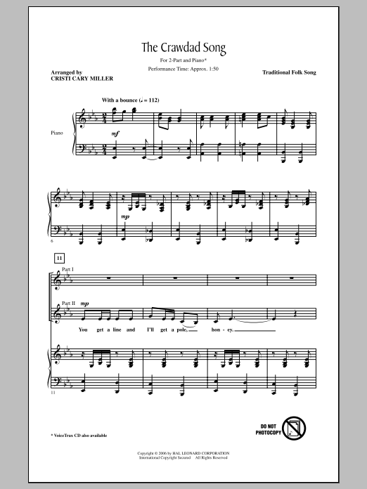 The Crawdad Song Sheet Music