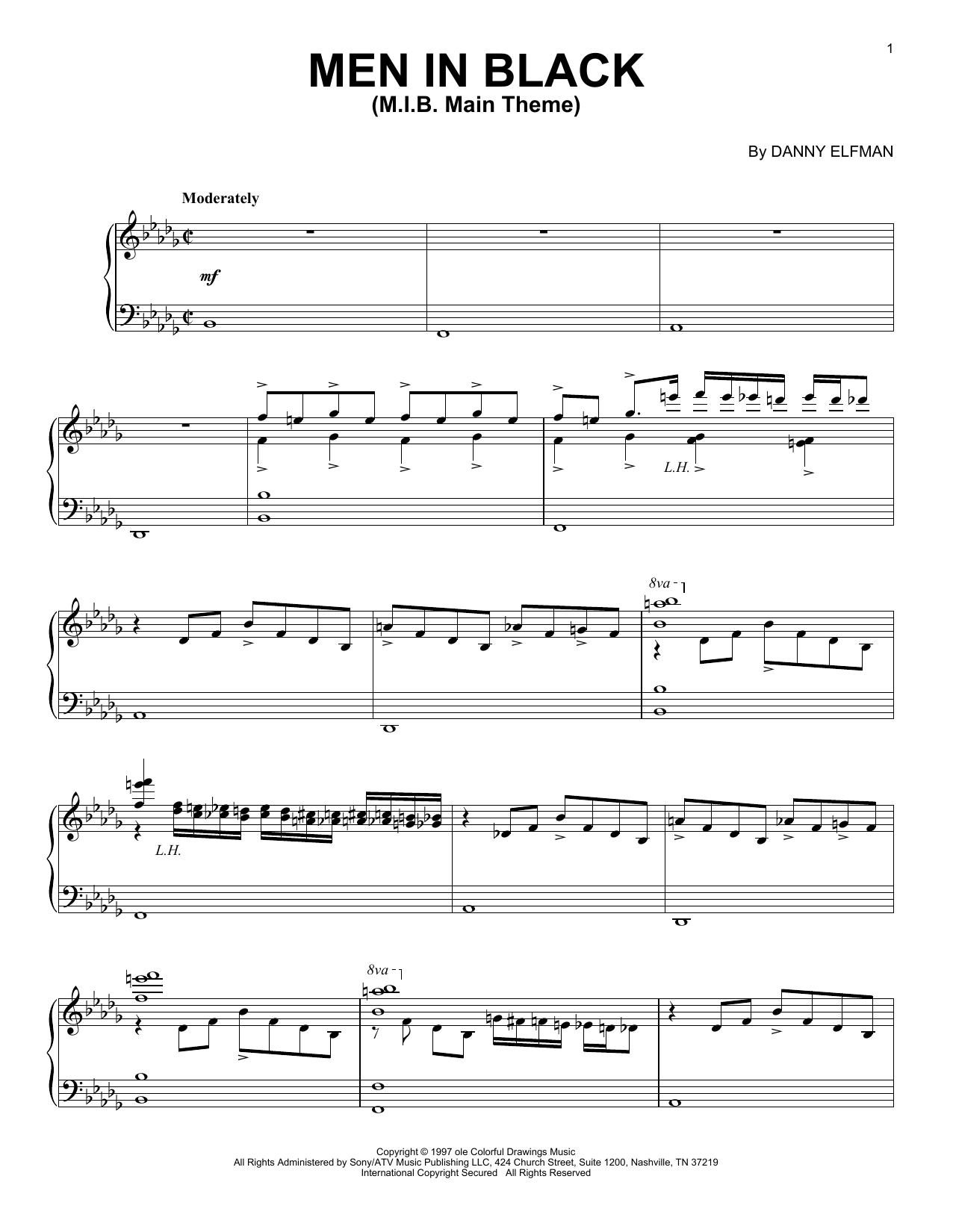 M.I.B. Main Theme (Piano Solo)