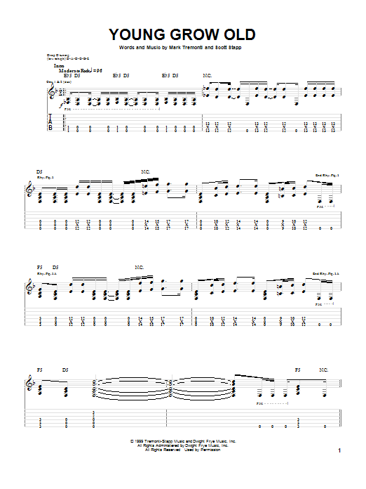 Young Grow Old (Guitar Tab)