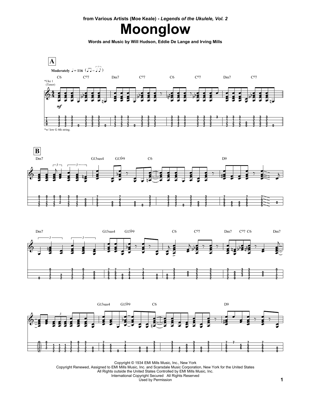 Moonglow (Ukulele Tab)