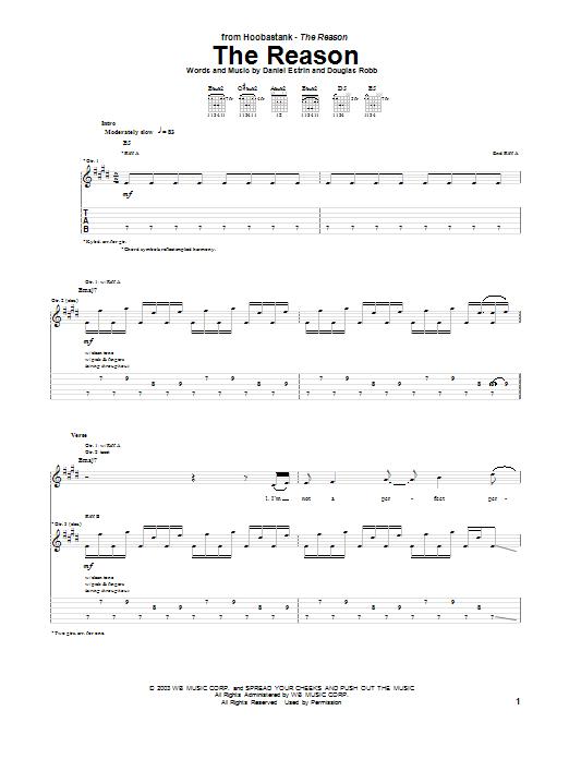 Hoobastank - The Reason (Chords) - Ultimate-Guitar.Com