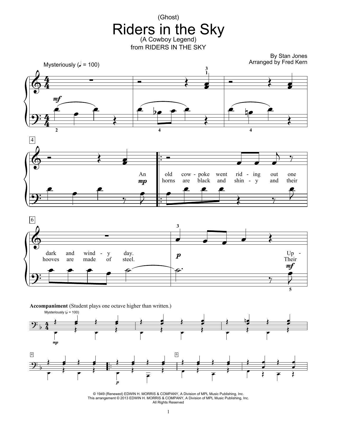 (Ghost) Riders In The Sky (A Cowboy Legend) Sheet Music
