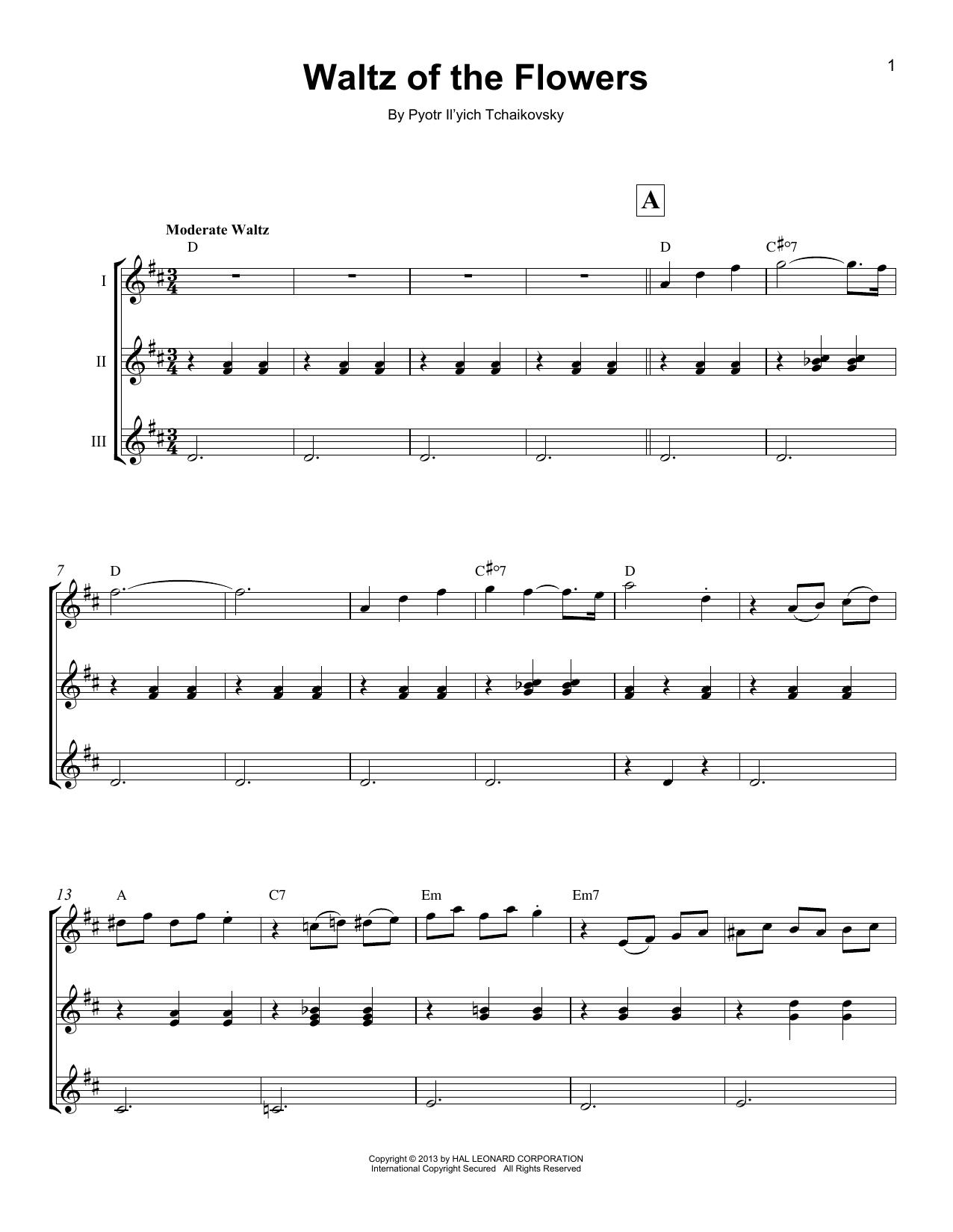 Waltz Of The Flowers Sheet Music