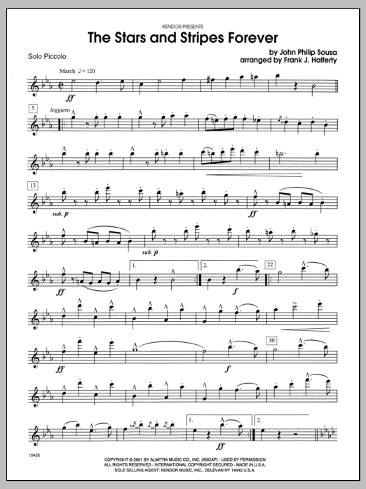 Stars And Stripes Forever, The - Solo Bb Clarinet Digitale Noten