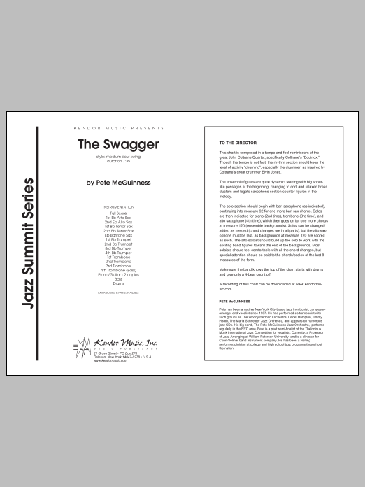 The Swagger - Full Score Sheet Music