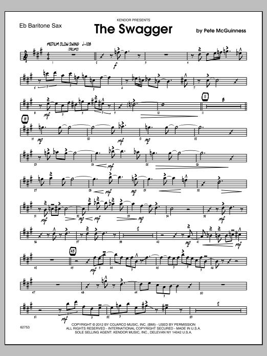 The Swagger - Baritone Sax Sheet Music