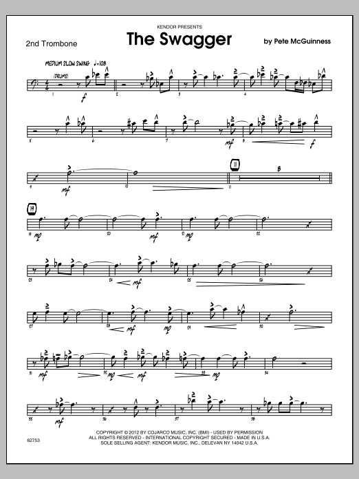 The Swagger - Trombone 2 Sheet Music