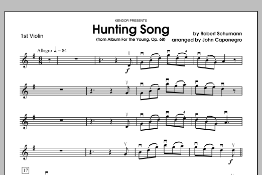 Hunting Song (from Album For The Young, Op. 68) - Violin 1 Sheet Music