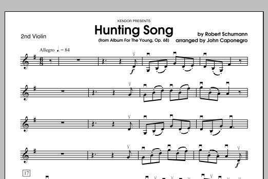 Hunting Song (from Album For The Young, Op. 68) - Violin 2 Sheet Music