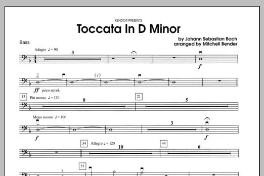 Toccata in D Minor - Bass Sheet Music