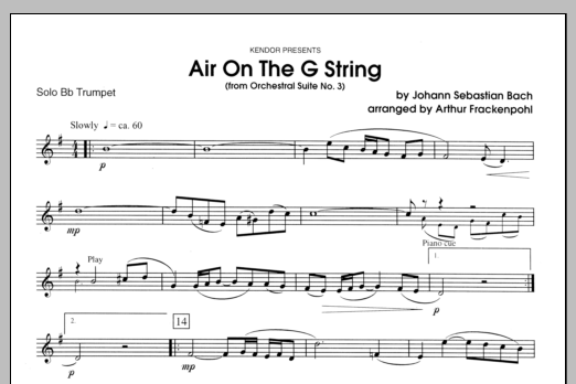 Air On The G String (from Orchestral Suite No. 3) - Trumpet Sheet Music